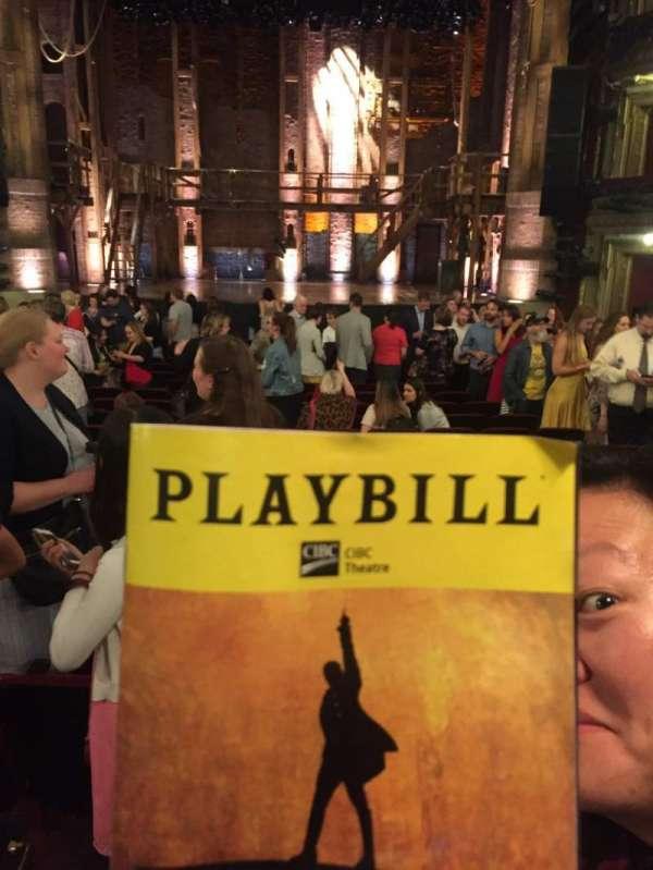 CIBC Theatre, vak: Orchestra C, rij: V, stoel: 111
