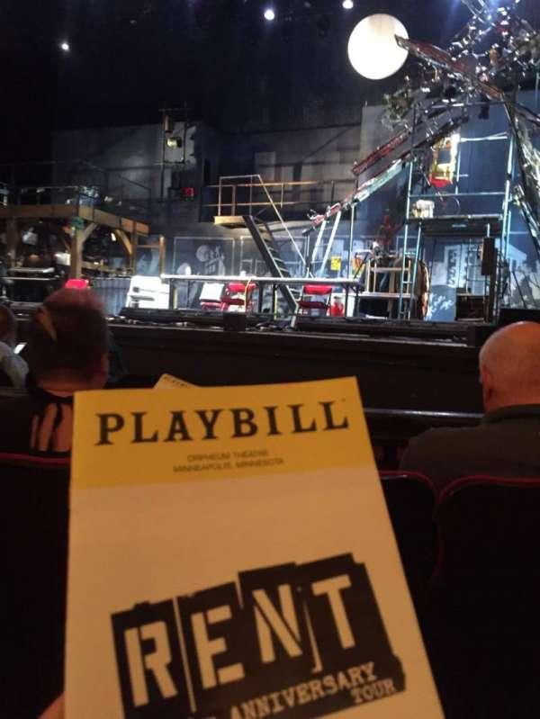 Orpheum Theatre (Minneapolis), vak: MF2, rij: D, stoel: 11