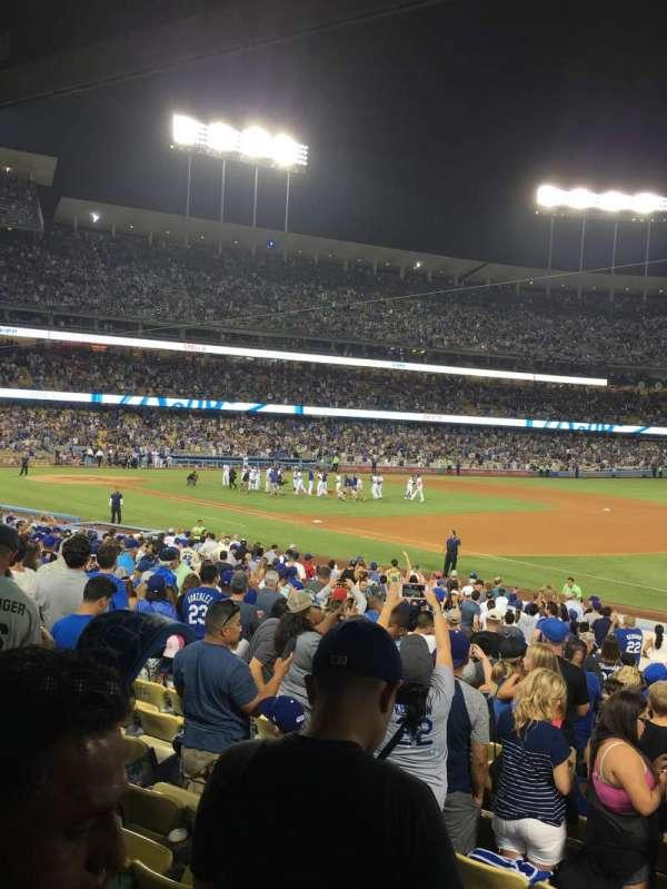 Dodger Stadium, vak: 34FD, rij: U, stoel: 4