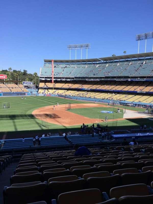 Dodger Stadium, vak: 143LG, rij: N, stoel: 8