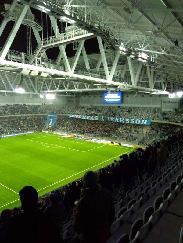 Tele2 arena, vak: 306, rij: 19, stoel: 257