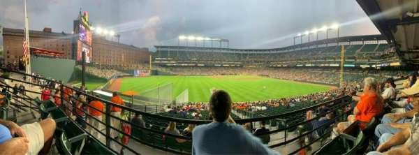 Oriole Park at Camden Yards, vak: 87, rij: 2, stoel: 11