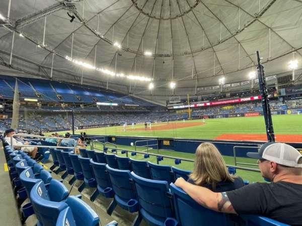 Tropicana Field, vak: 126, rij: K, stoel: 10