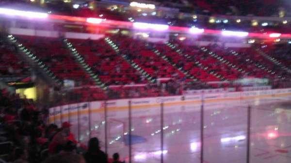 PNC Arena, vak: 122, rij: K, stoel: 14