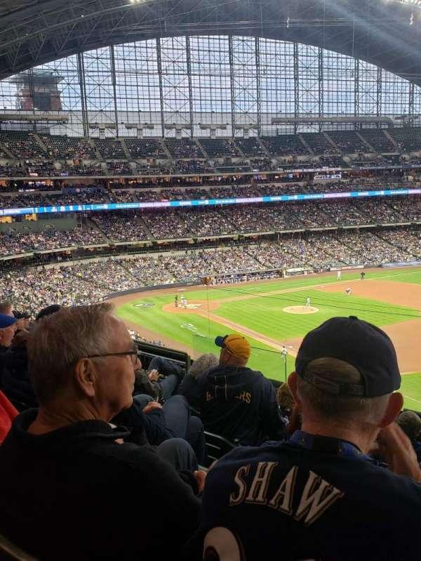 American Family Field, vak: 312, rij: 6, stoel: 7
