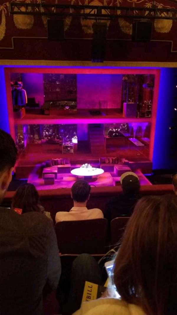 Booth Theatre, vak: Mezz, rij: D, stoel: 104