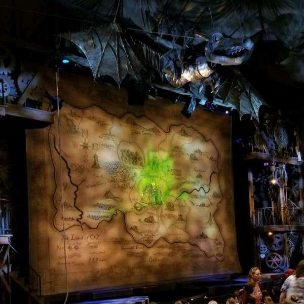 Gershwin Theatre, vak: Orch, rij: K, stoel: 21