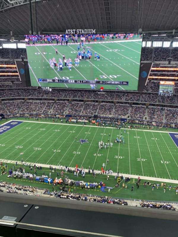 AT&T Stadium, vak: 411, rij: 1, stoel: 1