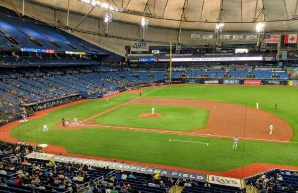 Tropicana Field, vak: 212, rij: 1, stoel: 16