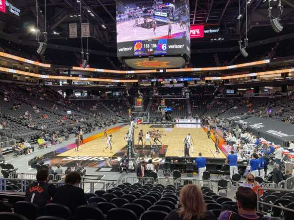 PHX Arena, vak: 108, rij: 13, stoel: 5