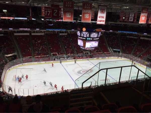 PNC Arena, vak: 326, rij: F, stoel: 5