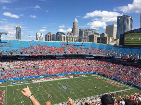 Bank of America Stadium, vak: 545, rij: 23, stoel: 19