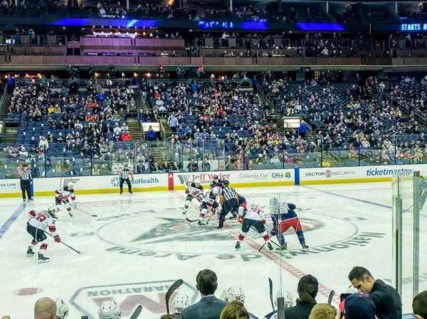 Nationwide Arena, vak: 104, rij: H, stoel: 10