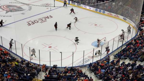 Nationwide Arena, vak: 213, rij: A, stoel: 8