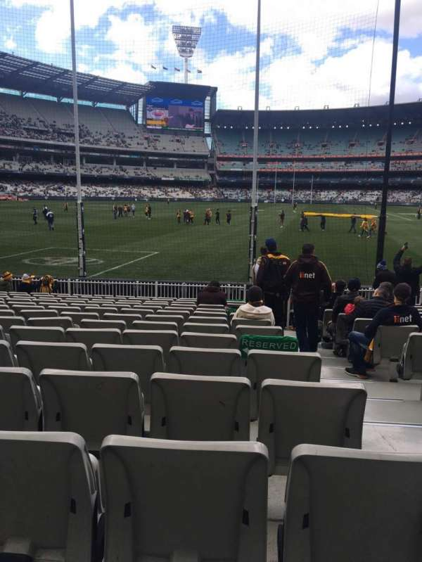 Melbourne Cricket Ground, vak: M32, rij: O, stoel: 2