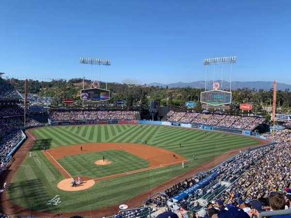 Dodger Stadium, vak: 4RS, rij: J, stoel: 21