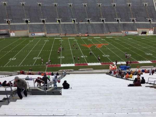 Lane Stadium, vak: 8, rij: CCC, stoel: 14