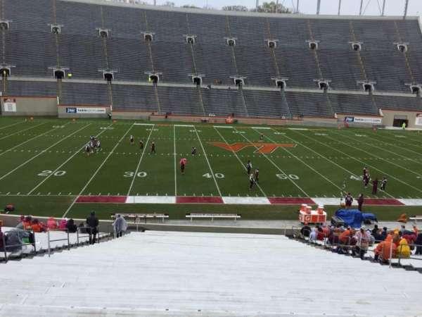 Lane Stadium, vak: 8, rij: MM, stoel: 16