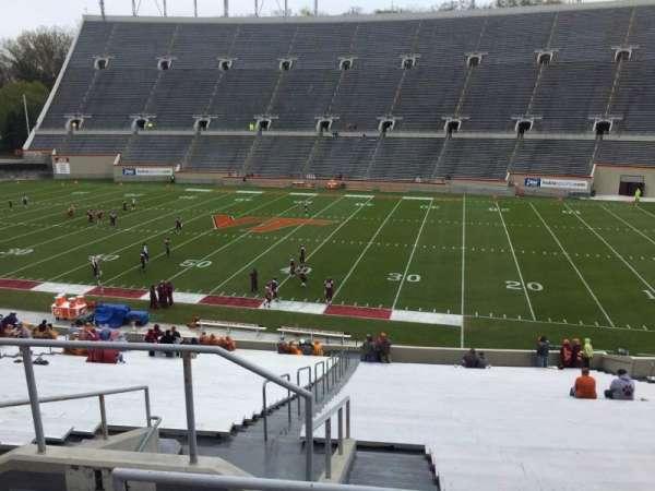 Lane Stadium, vak: 14, rij: SS, stoel: 6