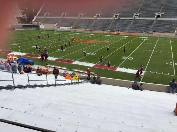 Lane Stadium, vak: 14, rij: CC, stoel: 24