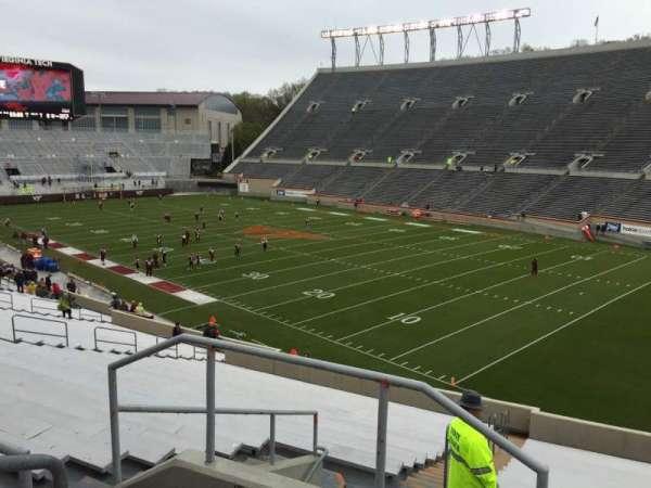 Lane Stadium, vak: 20, rij: Rr, stoel: 4