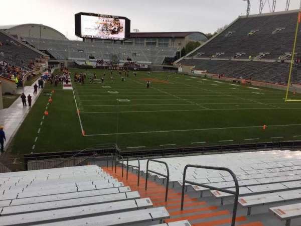 Lane Stadium, vak: 105, rij: U, stoel: 3