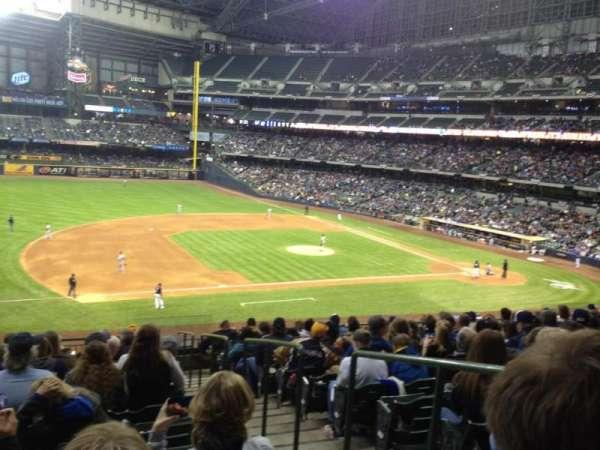 American Family Field, vak: 226, rij: 14, stoel: 2