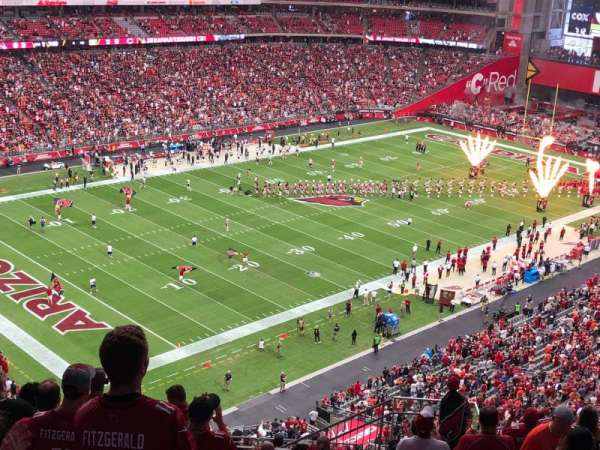 State Farm Stadium, vak: 421, rij: 13, stoel: 8