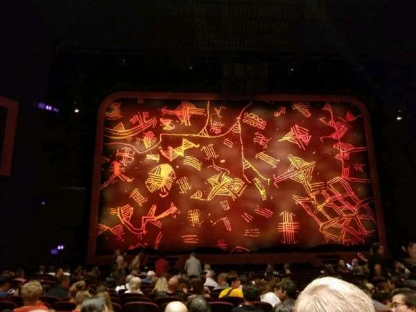 Minskoff Theatre, vak: Orchestra C, rij: P, stoel: 110