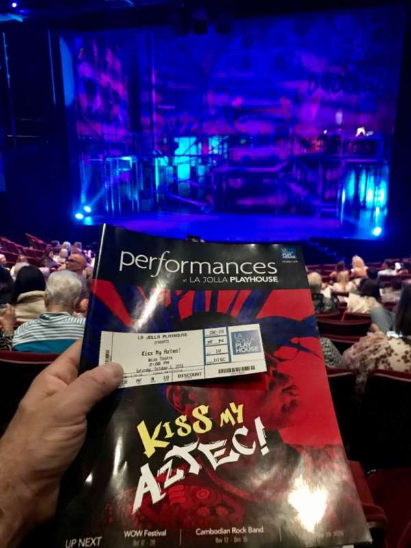 La Jolla Playhouse, vak: Orch, rij: N, stoel: 14