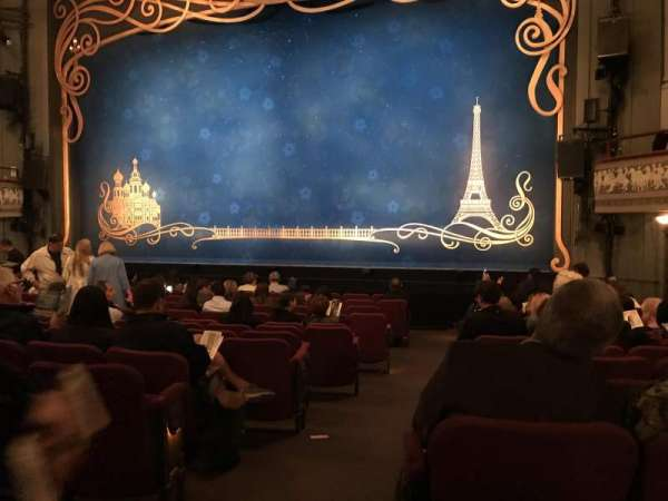 Broadhurst Theatre, vak: Orchestra, rij: N, stoel: 2