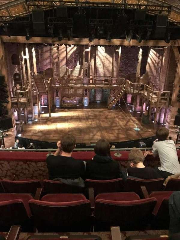 Richard Rodgers Theatre, vak: Mezzanine C, rij: D, stoel: 112