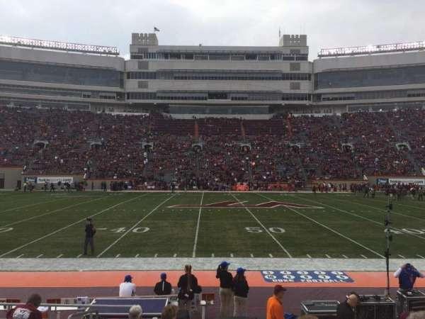 Lane Stadium, vak: 11, rij: K, stoel: 2