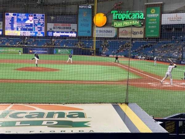 Tropicana Field, vak: 111, rij: N, stoel: 10