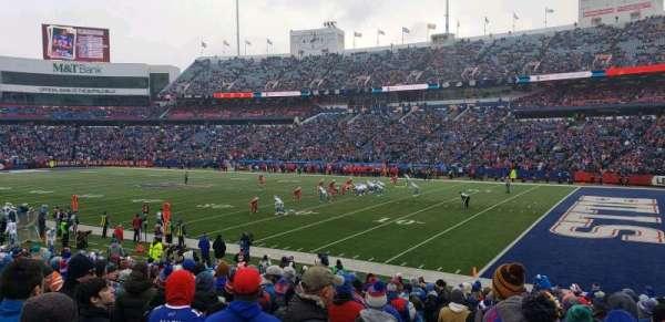 New Era Field, vak: 107, rij: 22, stoel: 21