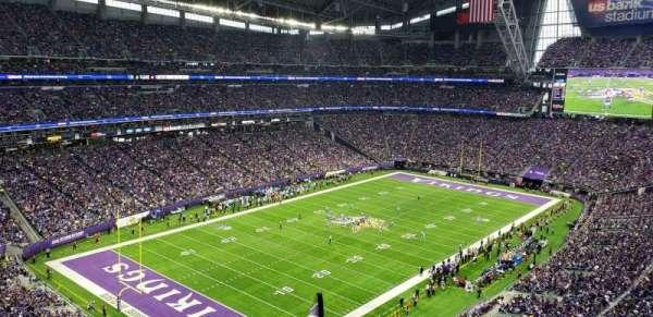 U.S. Bank Stadium, vak: 349, rij: E, stoel: 1
