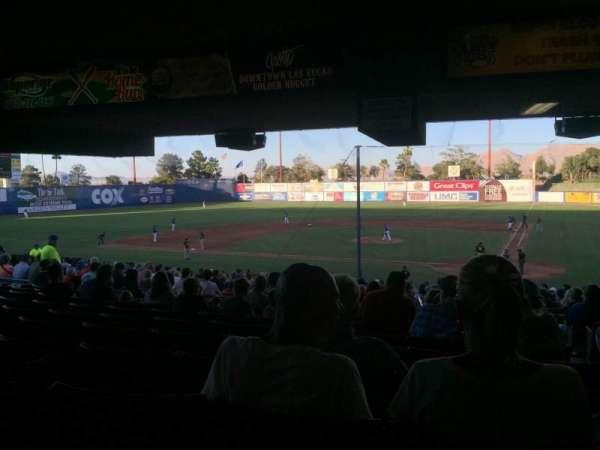 Cashman Field, vak: 9, rij: ZZ, stoel: 1-2