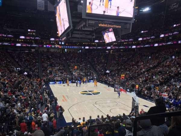 Vivint Smart Home Arena, vak: 14, rij: 17, stoel: 1