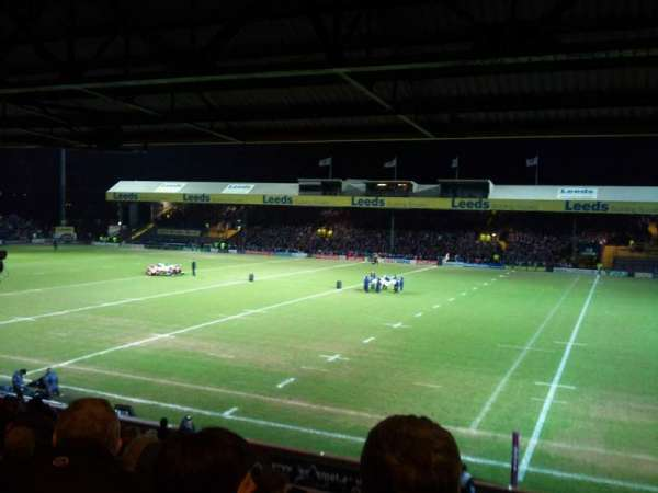 Headingley Stadium, vak: B, rij: M, stoel: 20