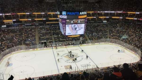 PPG Paints Arena, vak: 221, rij: L, stoel: 7