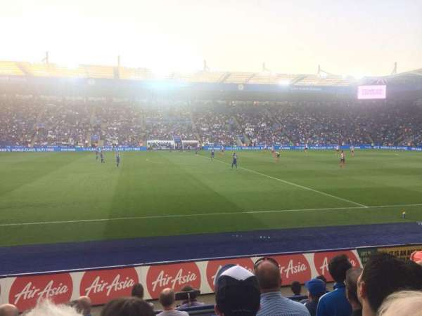 King Power Stadium, vak: J1, rij: G, stoel: 195