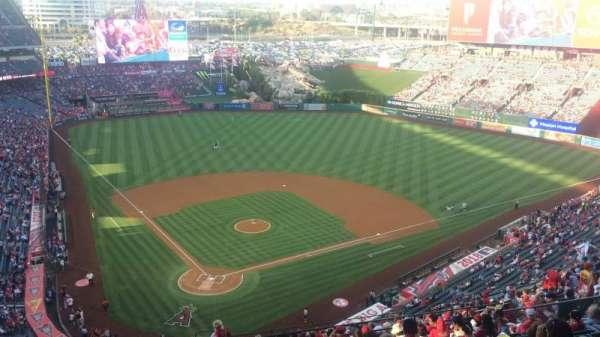 Angel Stadium, vak: MVP 523, rij: P, stoel: 7