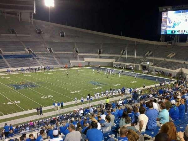 Liberty Bowl Memorial Stadium, vak: 106, rij: 20, stoel: 10
