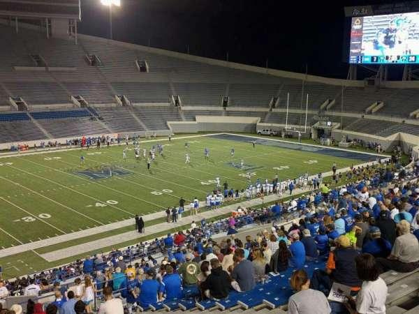 Liberty Bowl Memorial Stadium, vak: 106, rij: 50, stoel: 10