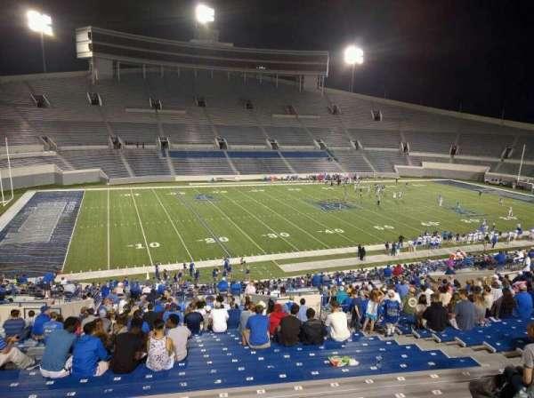Liberty Bowl Memorial Stadium, vak: 107, rij: 50, stoel: 10