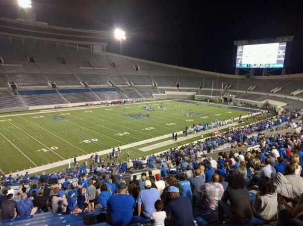 Liberty Bowl Memorial Stadium, vak: 108, rij: 50, stoel: 10