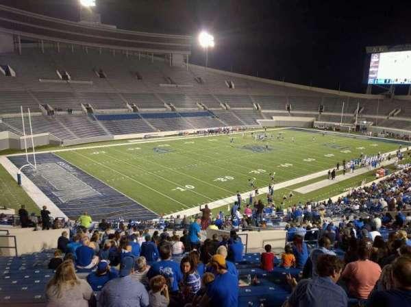 Liberty Bowl Memorial Stadium, vak: 109, rij: 50, stoel: 10