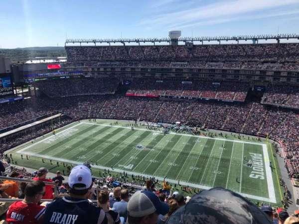 Gillette Stadium, vak: 306, rij: 24, stoel: 21