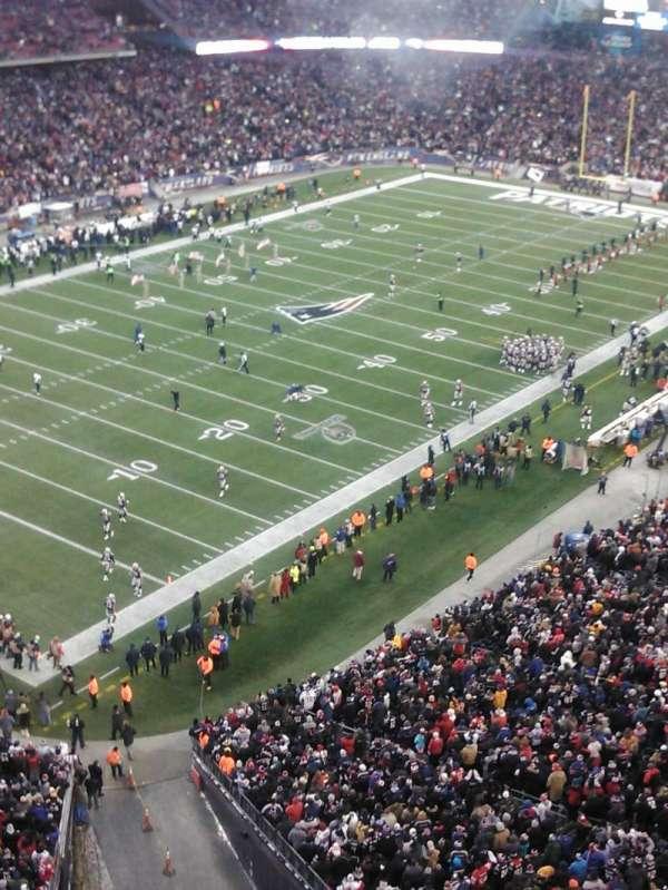 Gillette Stadium, vak: 318, rij: 2, stoel: 12