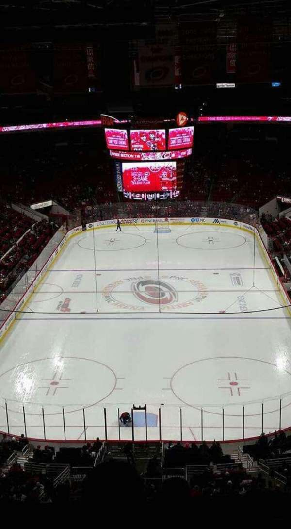 PNC Arena, vak: 314, rij: F, stoel: 3